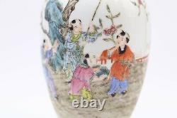 Chinese Antique Qing Dynasty Porcelain Famille Rose Vase with Marked and Seal