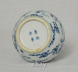 Chinese Blue and White Porcelain Vase With Mark M2482