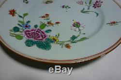 Chinese Export 18thC Porcelain Famille Rose Plate with Flowers 9