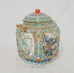 Chinese Famille Rose Porcelain Teapot With Mark M2910