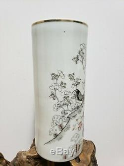 Chinese Grisaille painting Porcelain Vase