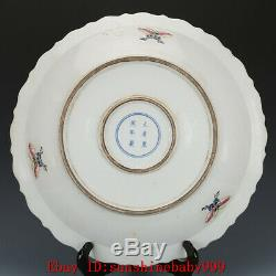 Chinese Kangxi marked famille rose Porcelain painted Chinese cabbage plate 10.4