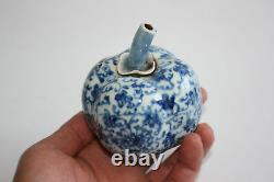 Chinese Porcelain Blue & White Pumpkin Shaped Water Dropper Marks
