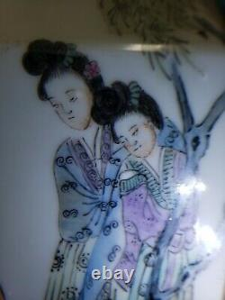 Chinese Porcelain Famille Rose Double Ear Vase