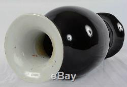 Chinese Porcelain Mirror Black Vase Monochrome Glaze Qing Dynasty