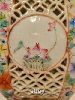 Chinese Qianlong19th century Famille Rose Porcelain Millefiori wedding lanterns