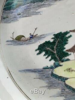 Chinese antique porcelain Big plates YongZheng Qing China Asian