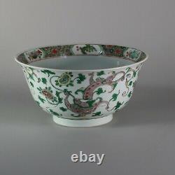 Chinese famille verte bowl, Kangxi (1662-1722)