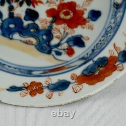 Chinese porcelain deep plate Imari decoration depicting flowers, Kangxi Period