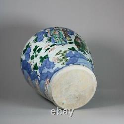 Chinese wucai baluster vase, Shunzi, (1644-1661)