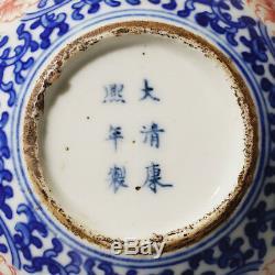 Delicate Chinese Antique Blue and White Bottle Gourd Porcelain Vase Marks KangXi