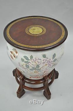 Drexel Heritage Ming Treasures Porcelain Chinese Urn Pedestal Dining Table Base