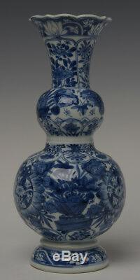 Early 18th Century, Antique Chinese Porcelain Blue and White Double Gourd Vase