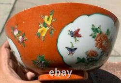 Estate Collection Chinese Antique Porcelain Famille Rose Bowl