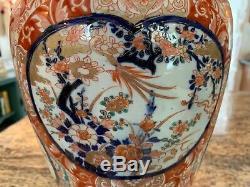 Exceptional 19th Century Chinese or Japanese Imari Porcelain Lamp Vase