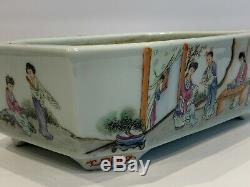 Exceptional Vintage Chinese Footed Porcelain Figural Jardiniere Planter