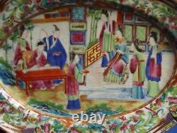 Exceptional19th Century Chinese Famille Rose Mandarin Porcelain 10 X7 Platter