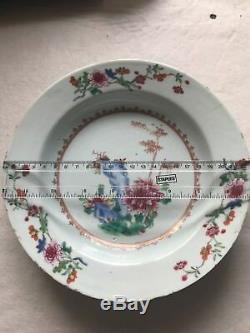 FINE Antique Chinese Yongzheng Famille Rose Porcelain Plate Genuine Original 18c