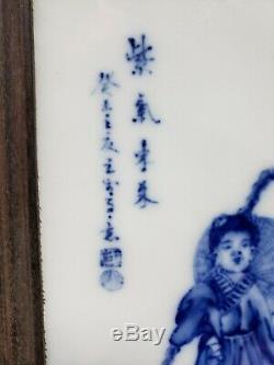 Fine Chinese BLUE&WHITE Porcelain Plaque