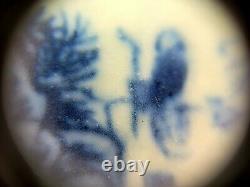 Fine Chinese Blue & White Portrait Porcelain Vase