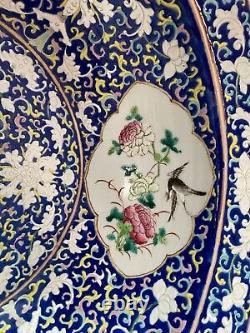 Fine Large antique Chinese famille rose porcelain Bowl Basin
