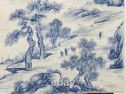 Fine Old Chinese Porcelain Blue&White Plaque Landscape