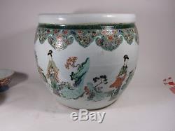 KANGXI Style Famille verte Chinese porcelain fish bowl QUALITY vase Chine TOP