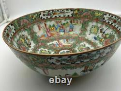 Large 19th C Fine Antique Chinese Famille Rose Medallion Porcelain 10 Bowl