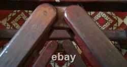 Large Chinese Carved Wood Stand for Porcelain Fish Bowl Planter or Palace Vase