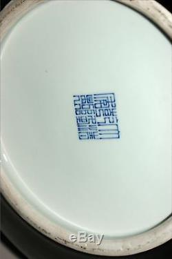 Large Chinese Porcelain Black Glazed Tianqiuping Vase 19th C. Late Qing Dynasty