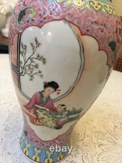 Lovely Late 1890s Chinese Famille Rose Porcelain Vase