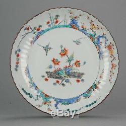 MUSEUM PIECE Ca 1720 Kangxi Chinese Porcelain Kakiemon Plate Birds 25.9C