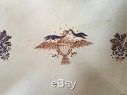 Mottahedeh Chinese Export Porcelain Plate Bowl Dish American Federal Eagle