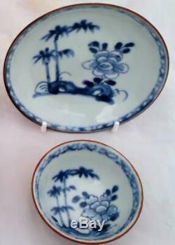 Nanking Cargo Chinese Porcelain Batavian Tea Bowl Saucer Qianlong Qing 5246