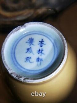 Old Chinese Monochrome Underglaze Porcelain Vase