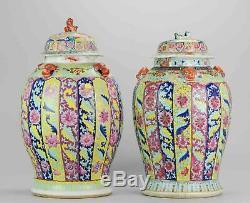 PAIR Chinese porcelain Vases 18/19th C. SE Asian Market Straits Bencharo
