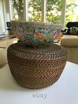 PRoC Period Chinese Porcelain Jingdezhen Eggshell Bowl Millefleur Marked