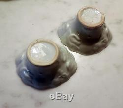 Pair Antique 18th century Blanc de Chine Chinese Porcelain Libation Cup Wine c
