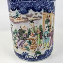 Pair of Large Matching 18th Century Chinese Porcelain Export Mugs