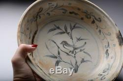 RARE Porcelain Large Bird Plate Hoi An Chinese Shipwreck Cargo