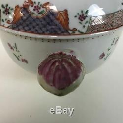 Rare Antique Chinese Porcelain Export 18th Century Covered Bowl
