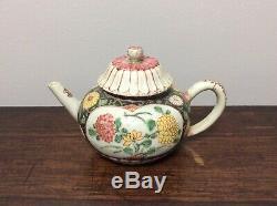 Rare Chinese 18th C Porcelain Yongzheng Qianlong Famille Rose / Noir Teapot