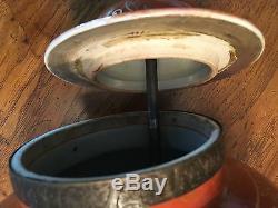 Rare Chinese Red Glaze W Gilt Decoration Porcelain Vase Ginger Jar Lamp