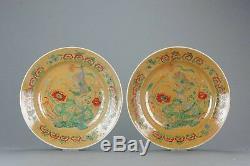 SET 26.5CM Kangxi Chinese Porcelain Dish Cafe Au Lait Famille Verte