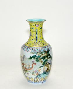 Superb 19th c. Chinese Qing Famille Rose 100 Boy Dragon Boat Porcelain Vase