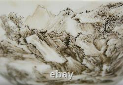Superb Chinese Qing Yongzheng MK Rich Enamel Ink Landscape Porcelain Bowl