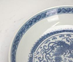Superb Fine Chinese Blue and White Phoenix Porcelain Plate