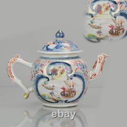 TEapot Mandarin Chinese Porcelain Boats Merchants China Qianlong 17