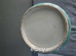 Very Large Antique Chinese Famille Verte Wucai Gu Beaker Porcelain Vase