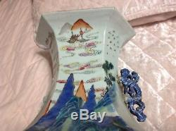 Vintage Chinese Pottery Porcelain. Very Very Old, Heavy And Big